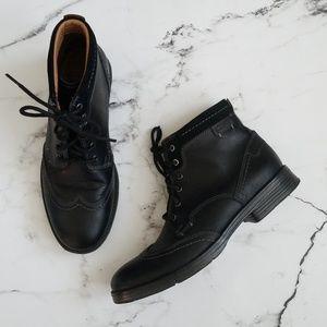 Clark's Collection Black Wingtip Boots